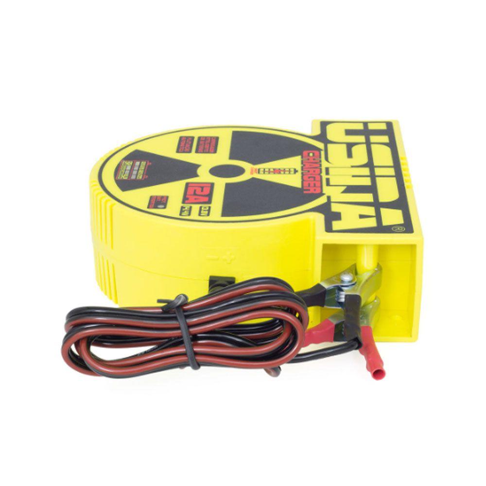 Carregador Usina Charger 12A, Bivolt com Medidor de Bateria