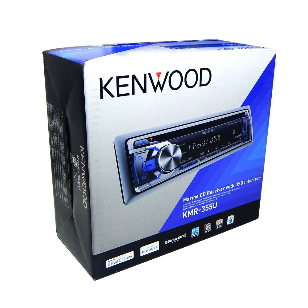 CD Player Marine Kenwood KMR 355U AUX USB