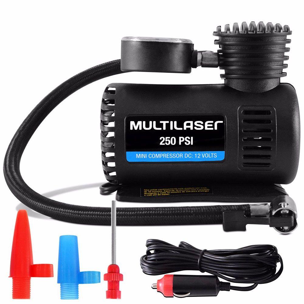 Compressor de Ar Portátil 12V Multilaser AU601 - Ar Direto