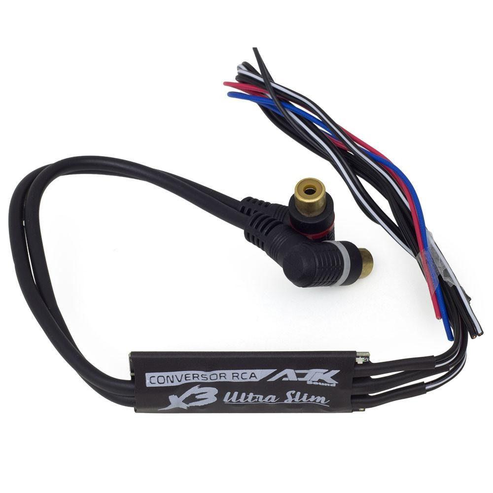 Conversor de Sinal RCA AJK X3 Ultra Slim Estéreo com Remote