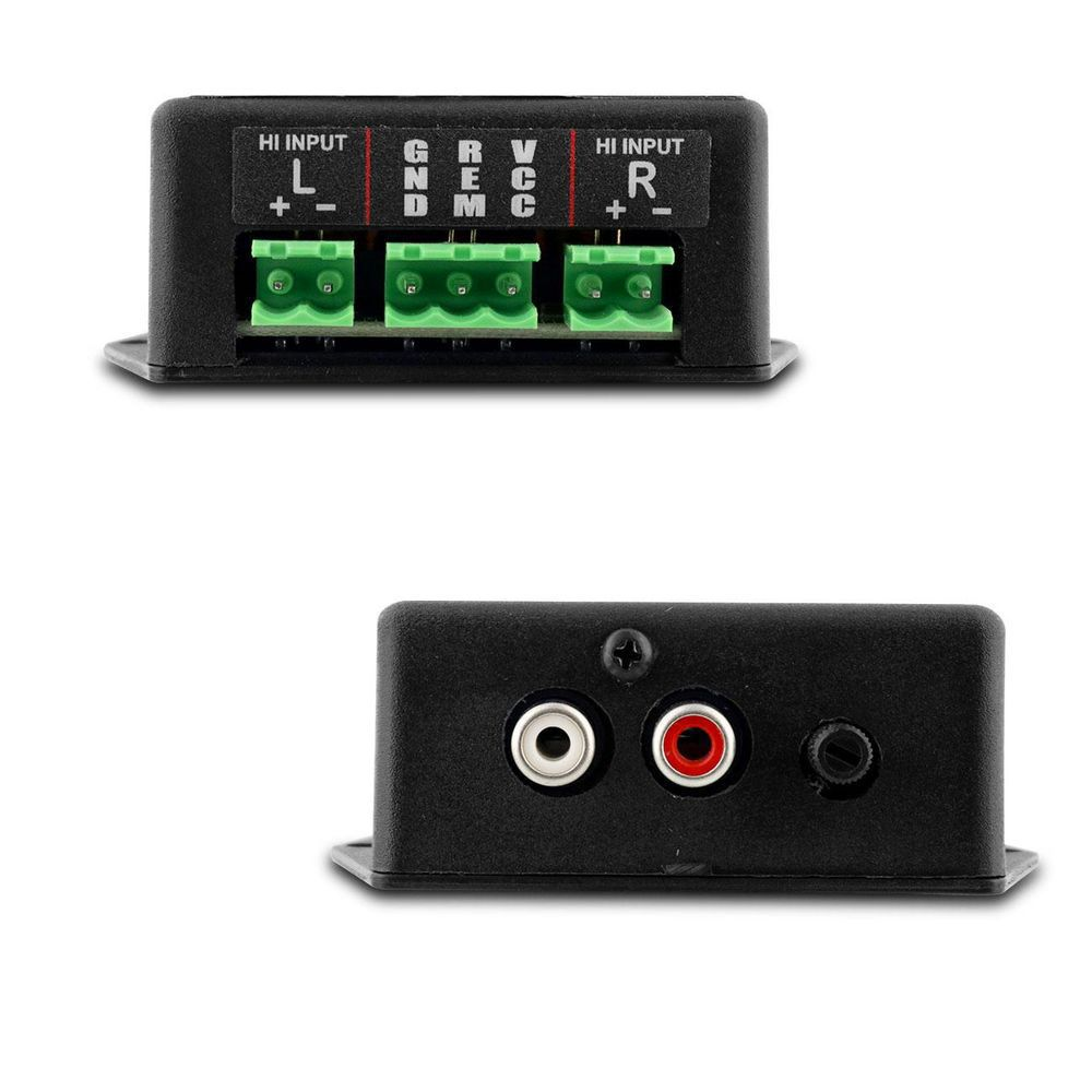 CONVERSOR RCA AJK SOUND X6 CLEAN ÁUDIO - C/ INDICADOR CLIP/FILTRO ANTI-RUIDO/AJUSTE DE GANHO/PLUG AND PLAY/FULL RANGE 20