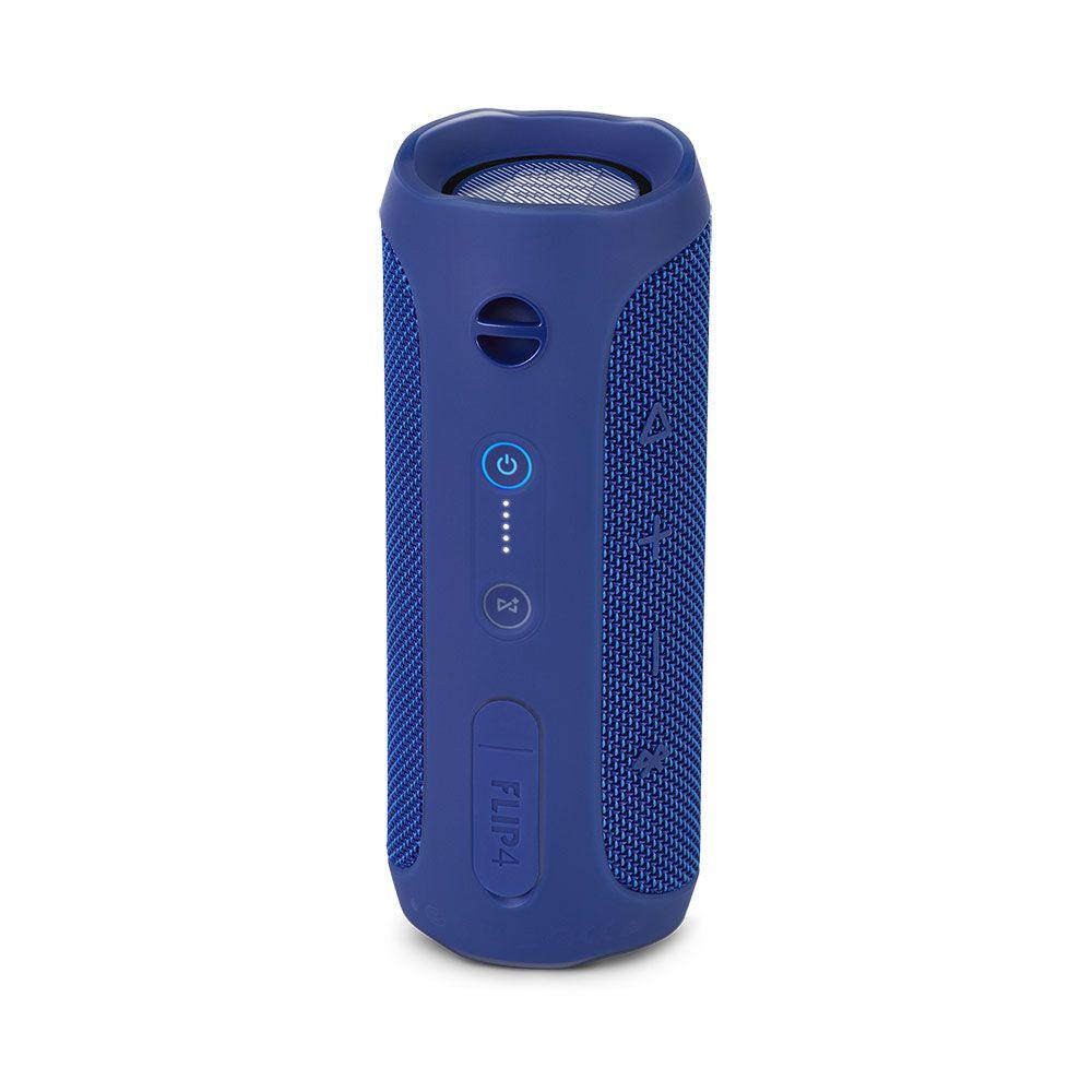 Caixa de Som Portátil JBL Flip 4 Azul Bluetooth