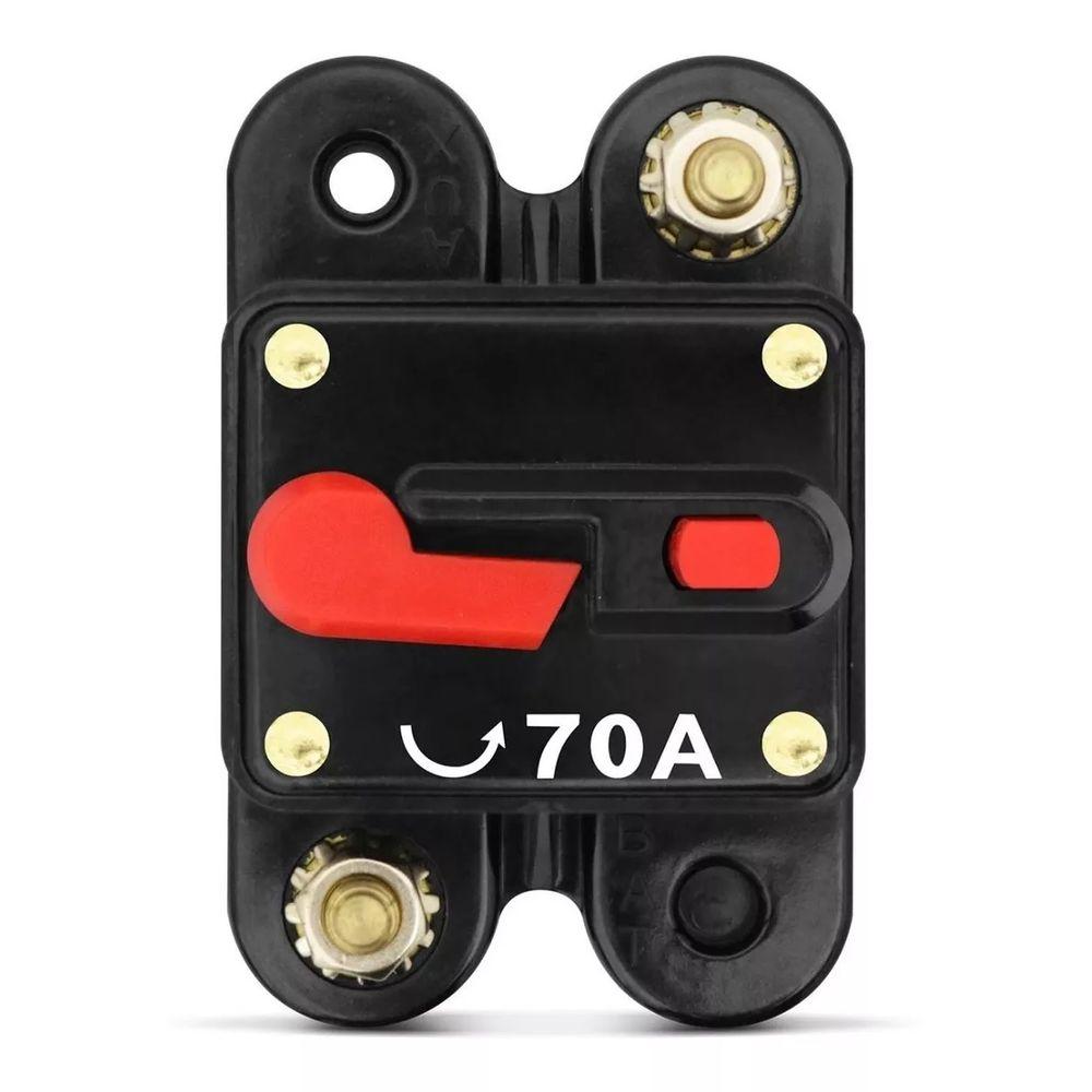 Disjuntor Automotivo TechOne 70A ? Proteção da Instalação Elétrica - TECHONE 70A (CÓD. Z-0753)