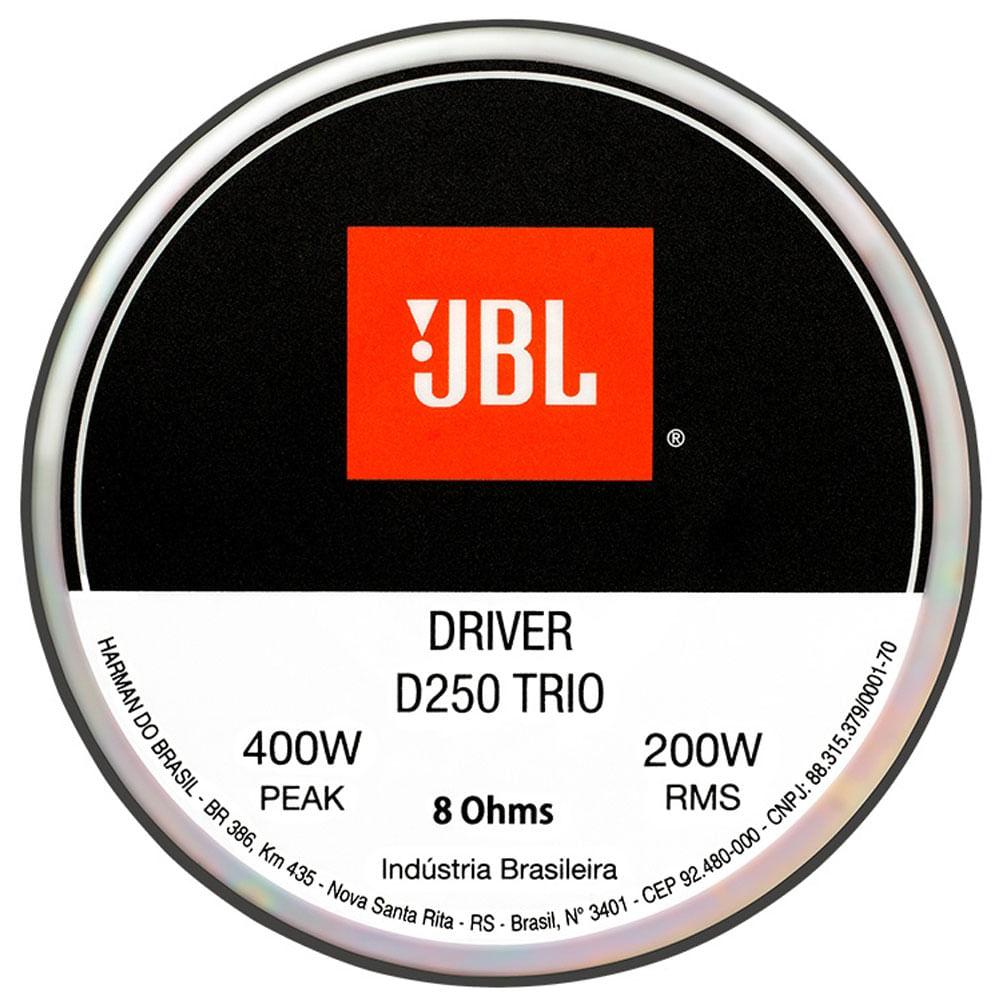 Driver De Corneta Original Jbl D250 Trio - 200w Rms - 8 Ohms - D250 TRIO (NOVO) - OFERTA!