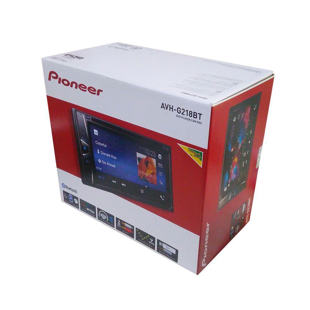 DVD Player 2 Din Multimídia Pioneer AVH-G218BT Bluetooth