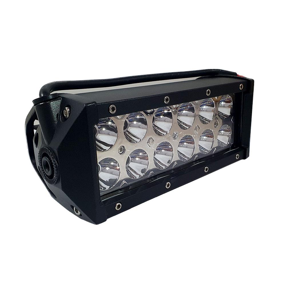 FAROL DE MILHA BARRA DE LED RAY X LTB2236 C/ 12 LEDS 36W C/ SUPORTE / 10~60V (196X70X85MM) -UNITÁRIO