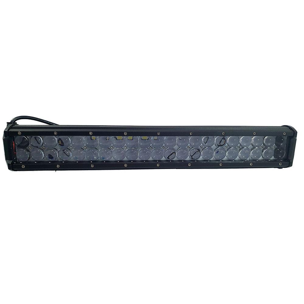 FAROL MILHA BARRA DE LED RAY X LTB24126 C/ FOCO DE 42 LEDS CREE 126W C/ LENTE PROJETOR / 12~30V (505X78X65MM) - CÓD.235