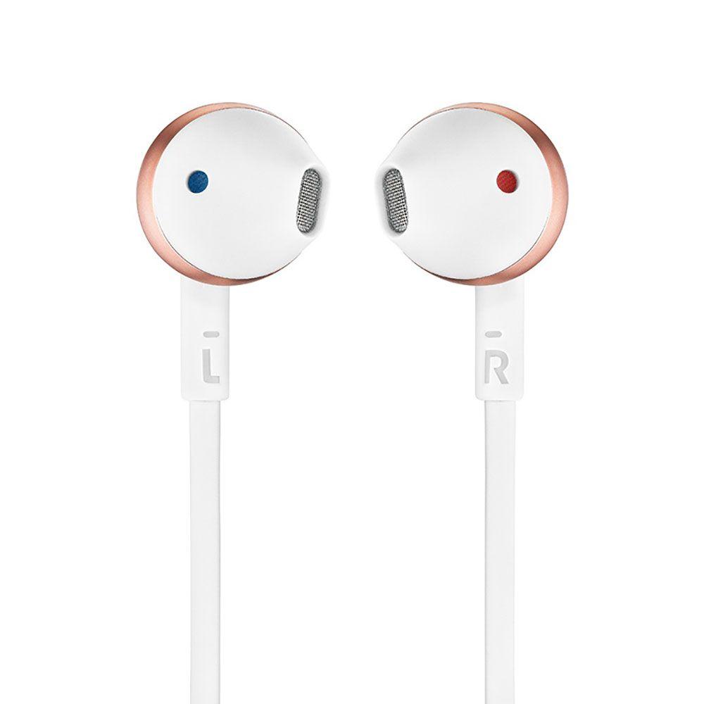 Fone de Ouvido JBL Tune 205 BT Bluetooth - Branco com Dourado