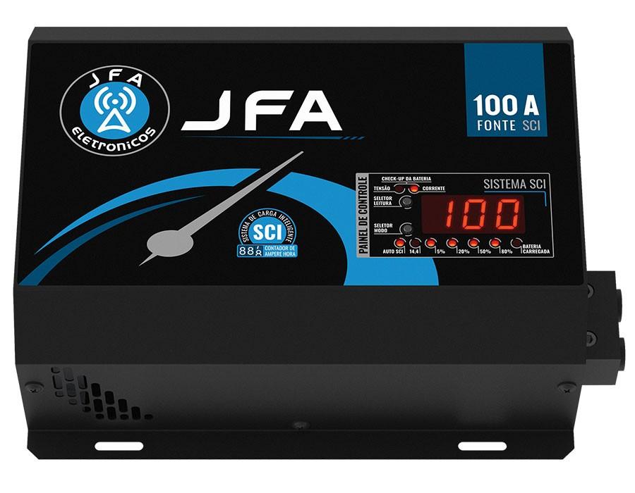 Fonte Digital JFA SCI 100A Bivolt Carregador e Voltímetro