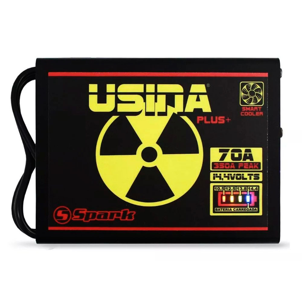 Fonte Digital Usina 70A Battery Meter - Bi-volt - BAT METER 70A - USINA (SUBM1270BV)