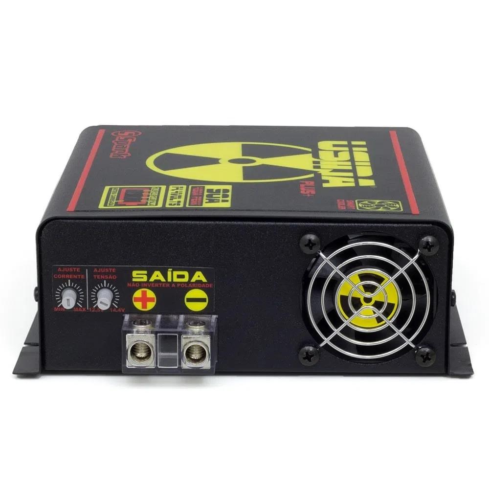 Fonte Digital Usina 90A Battery Meter - Bi-volt - BATTERY METER 90A - USINA (SUBM14490BV)