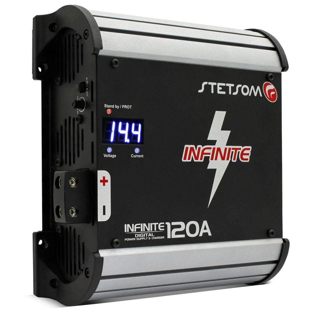 Fonte e Carregador Digital Stetsom Infinite 120A Bivolt com Display