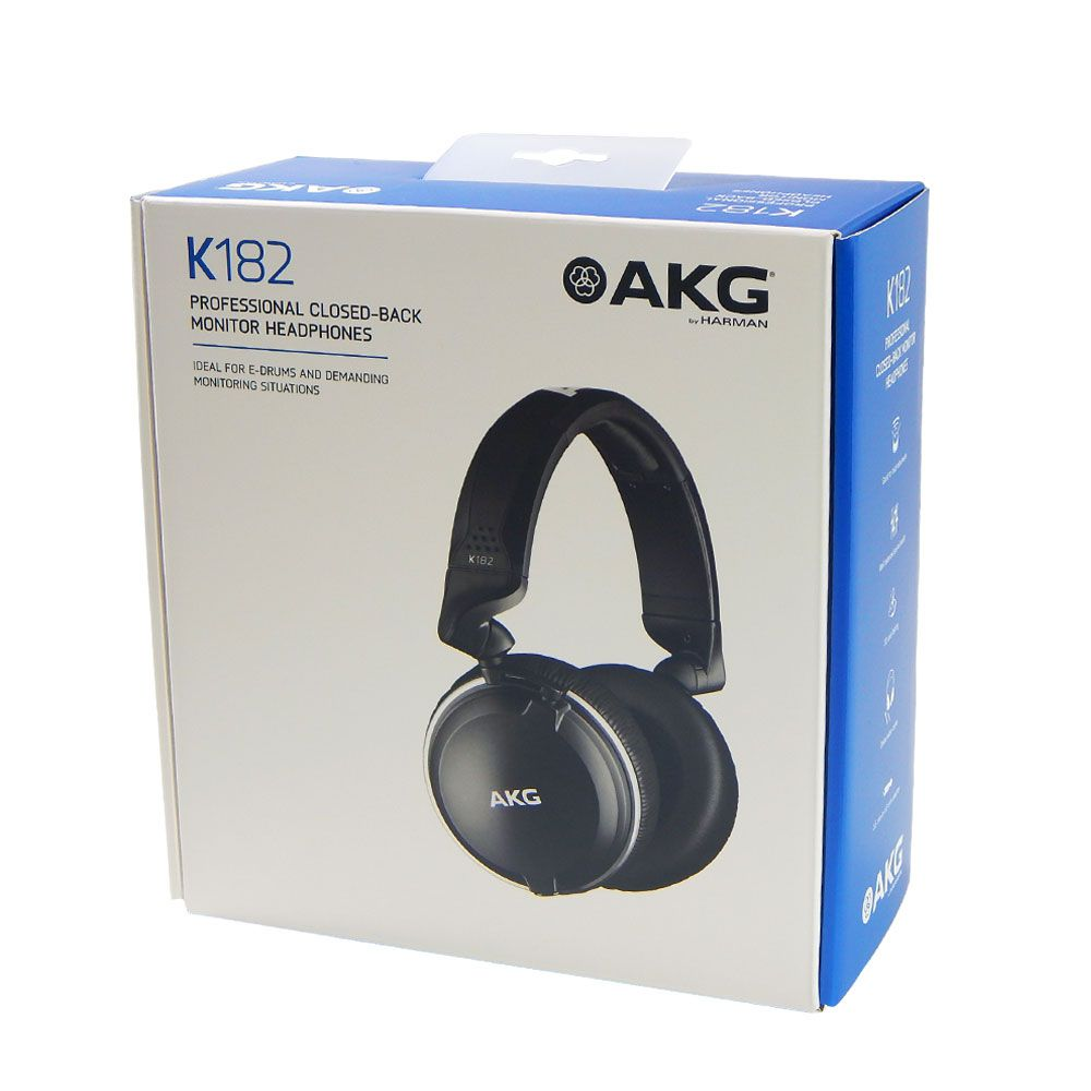 Headphone Profissional AKG K182 de Monitoramento Closed Back