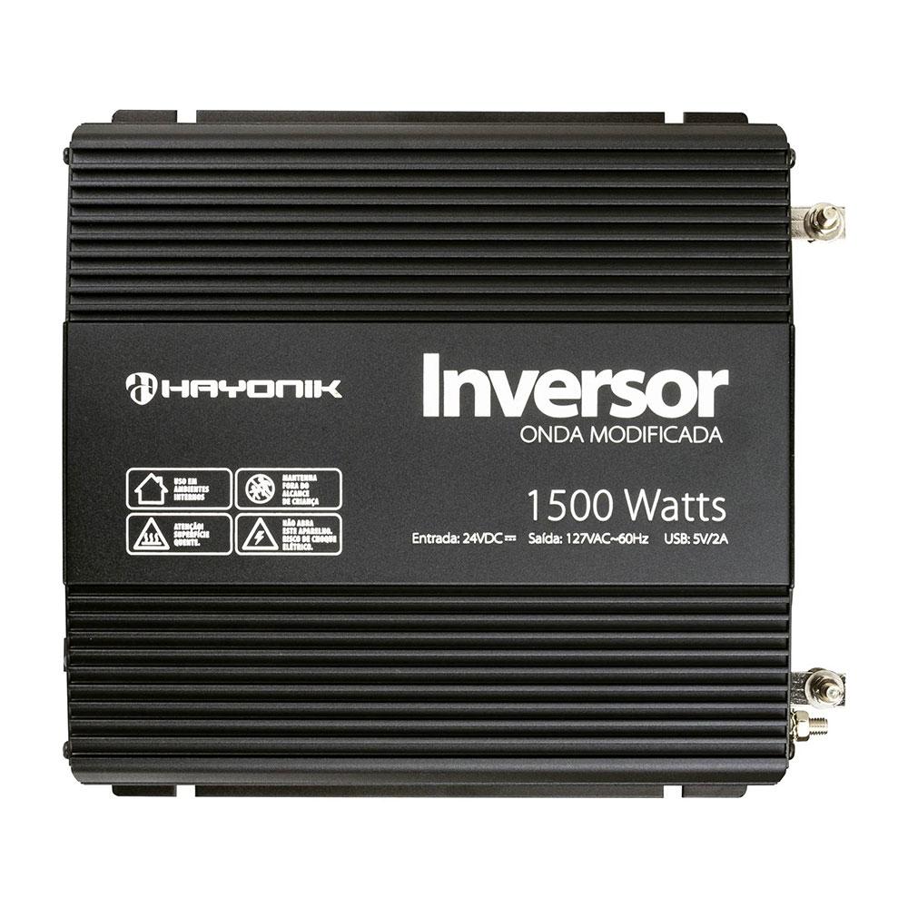 Inversor de Onda HAYONIK 1500W 24VDC/127V PW12-6
