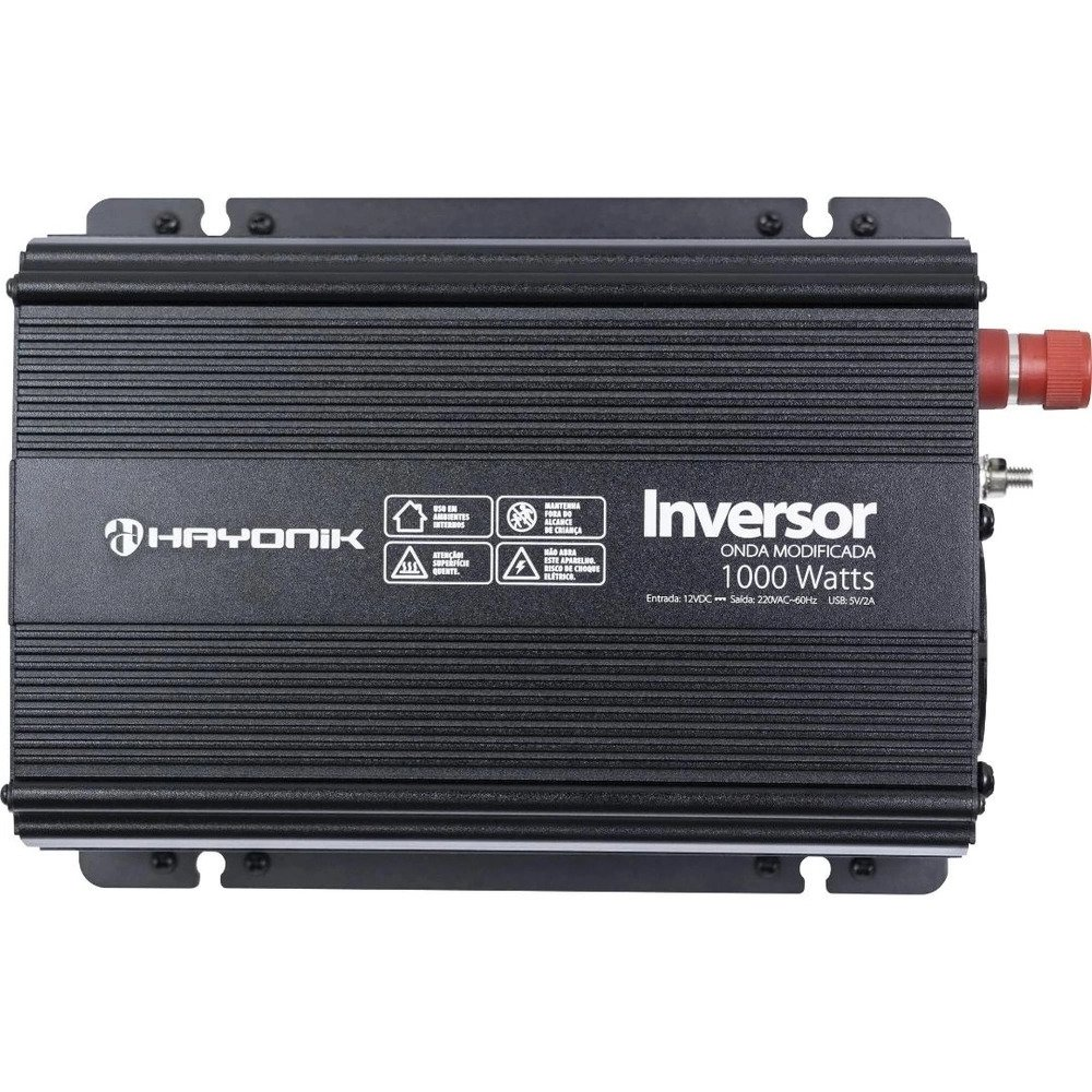 Inversor de Onda Senoidal Hayonik 1000W 12VDC/220V
