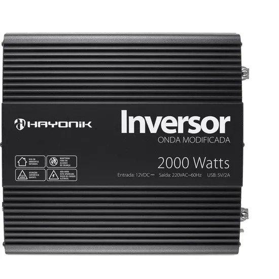 Inversor de Onda HAYONIK 2000W 12VDC/220V