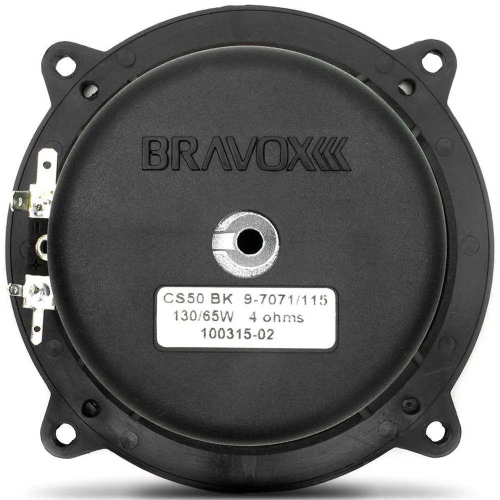 """Kit 2 Vias 5"""" Bravox CS50 BK - 130W RMS o par - 4 ohms"""