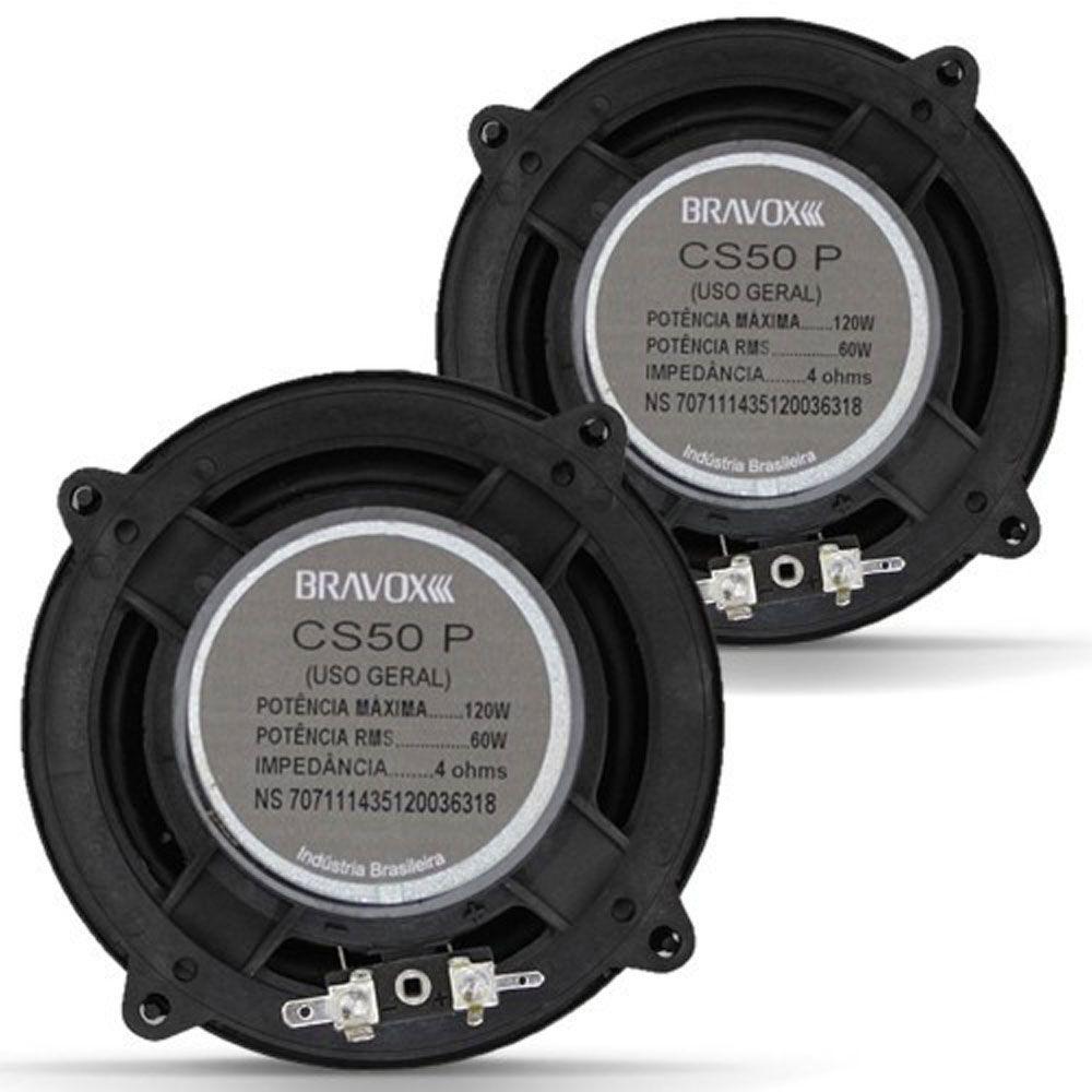 Kit 2 Vias 5? Bravox Premium CS50P ? 120W RMS o Par - CS50P