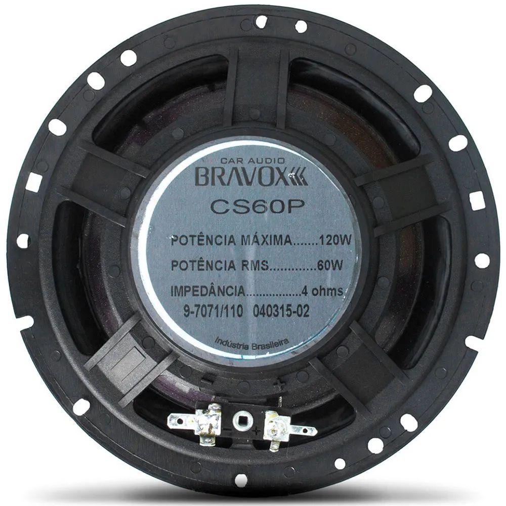 "Kit 2 Vias Bravox 6"" Premium CS60P - 120W RMS o Par"