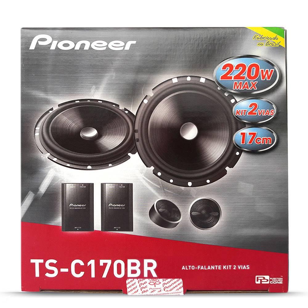 """Kit 2 Vias Pioneer Pioneer 6"""" TS C170BR 120W RMS o Par"""