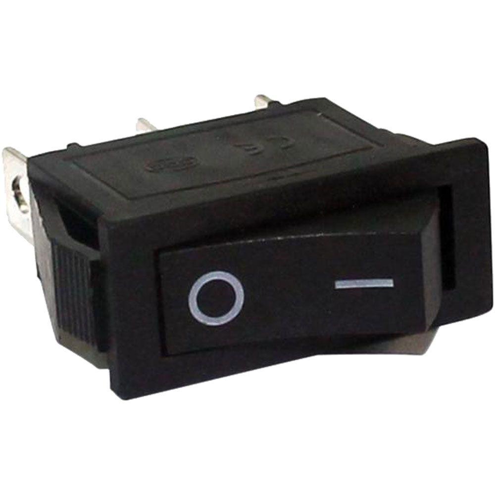 Kit c/100 Botão Tic Tac Tech One Liga/Desliga-Retangular-10A