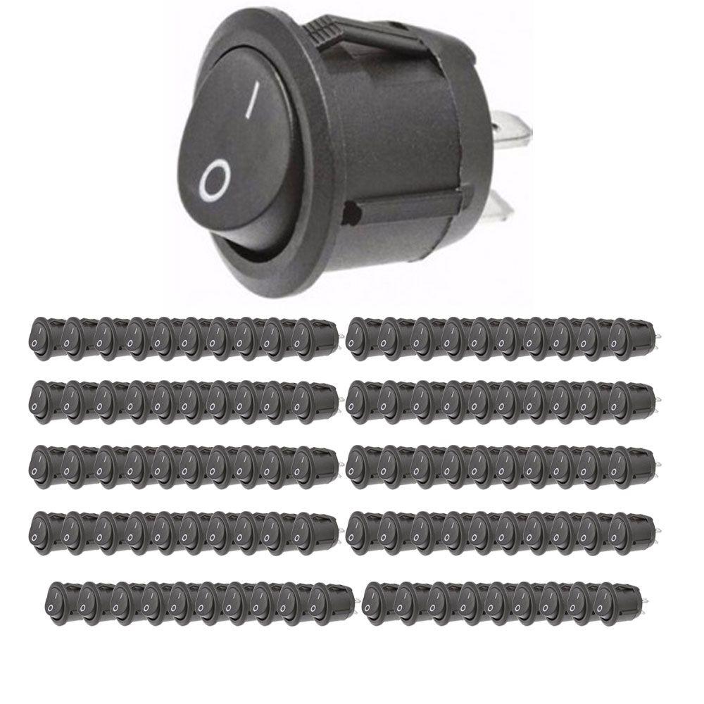 Kit c/100 Botão Tic Tac Tech One LigaDesliga - Redondo - 10A