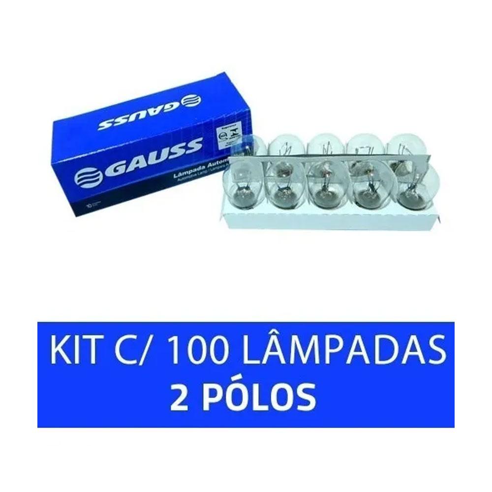 KIT C/100 LAMPADAS 1034 12V GAUSS - 100 X 1034