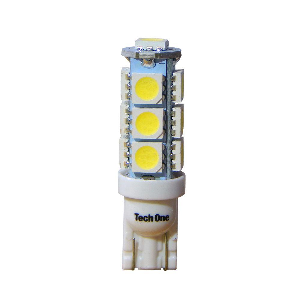 Kit c/ 20 Lâmpadas de LED Torre T10 W5W Tech One com 13 LEDs