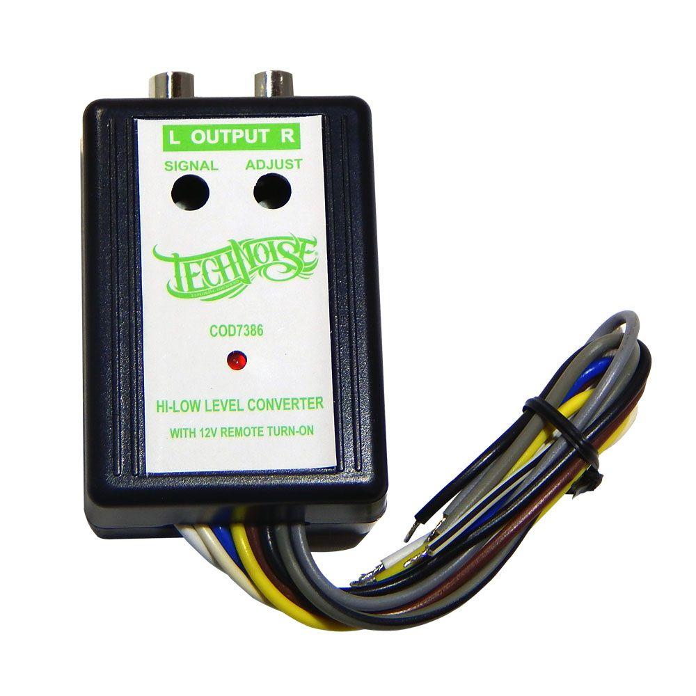 Kit com 10 Conversor de Sinal Technoise Dynamic de Alta Para RCA – 2 Canais Remote