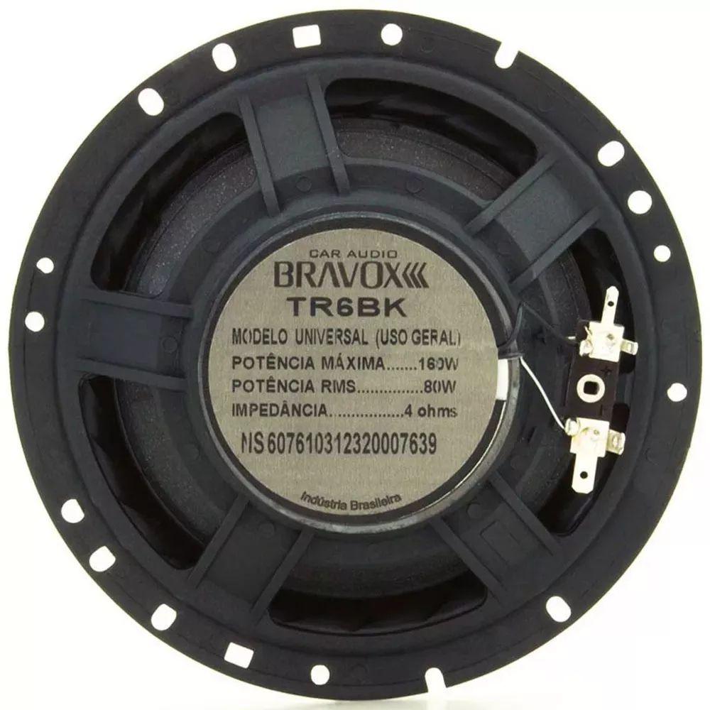 Kit Fácil Black Bravox B4X69 Bk + TR6 Bk - 220W + 160W RMS