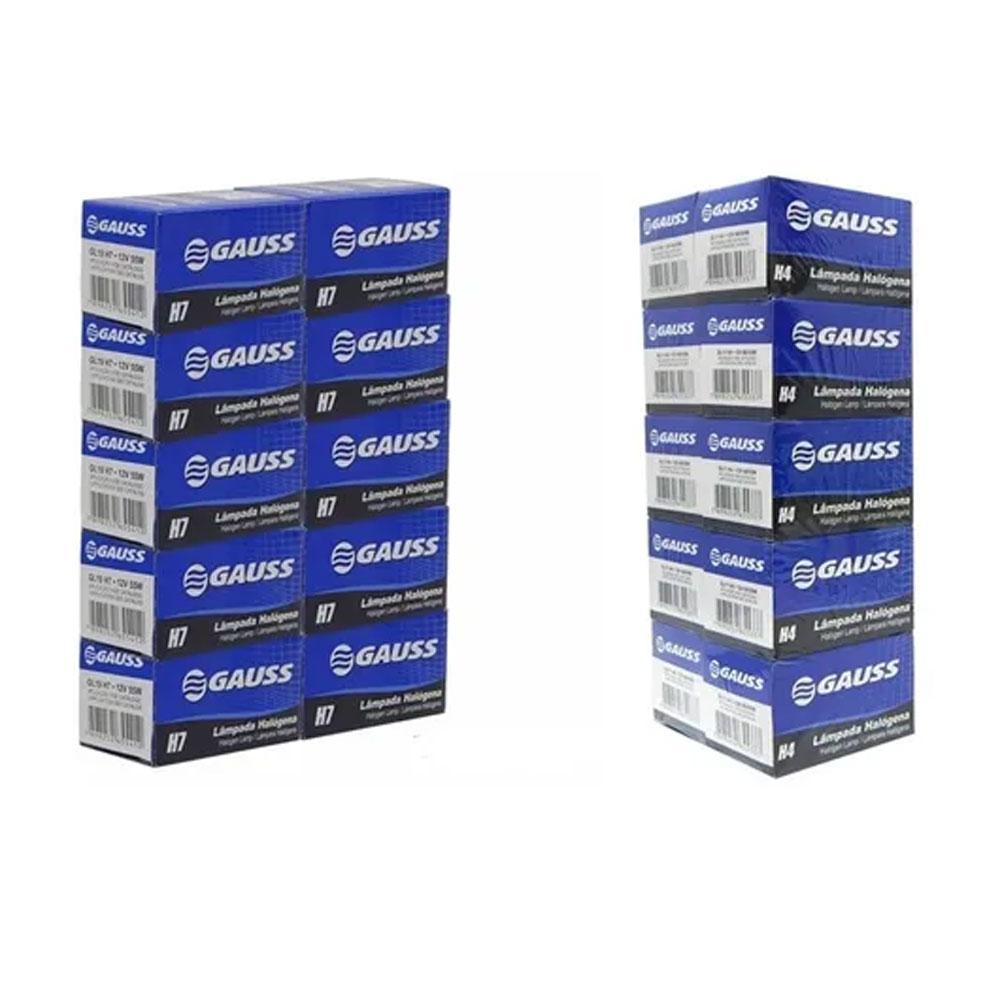 KIT GAUSS-12 10xH4 + 10xH7 12V GAUSS - KIT GAUSS-12