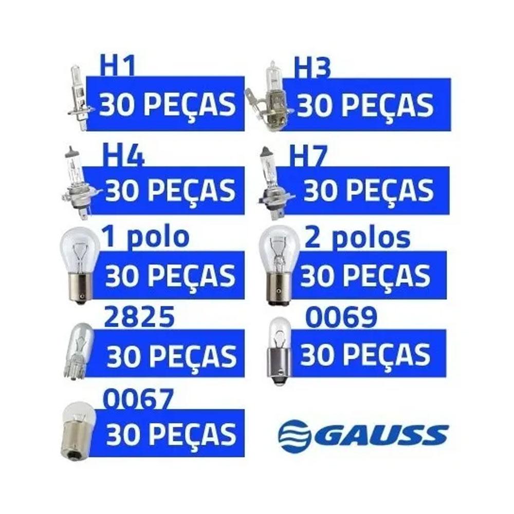 KIT GAUSS-2 30 CADA H4/H7/H1/H3/1P/2P/PINGO 2825/69/67 - KIT GAUSS-2