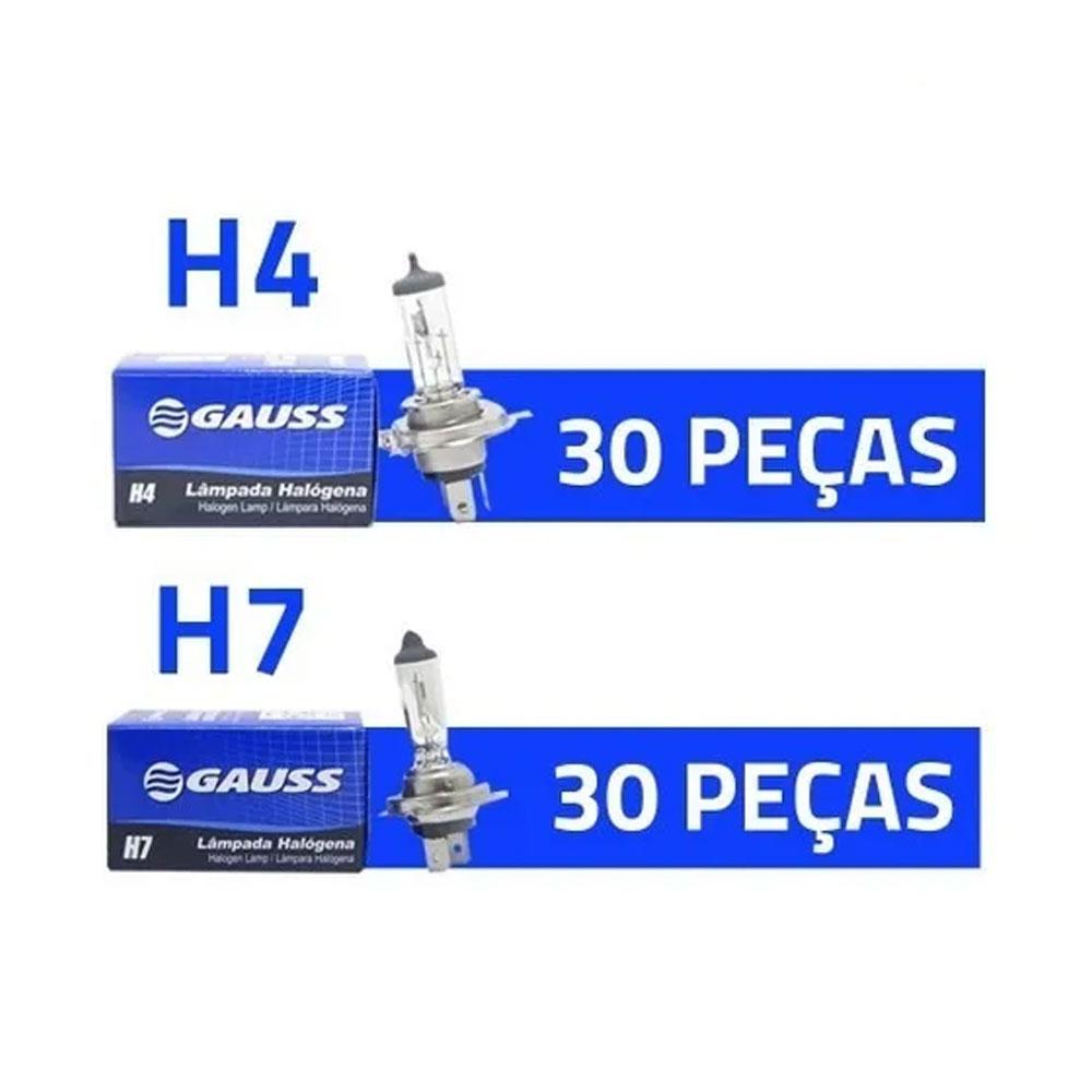 KIT GAUSS-4 60 LAMPADAS 30xH4 + 30xH7 - KIT GAUSS-4