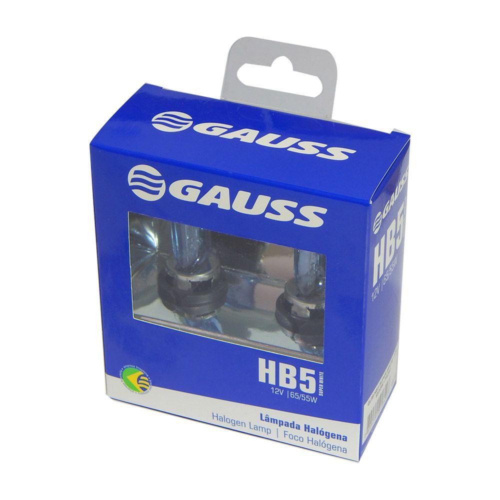 Kit Lâmpadas Automotiva Gauss Super Branca Hb5 9007 - 65/55w