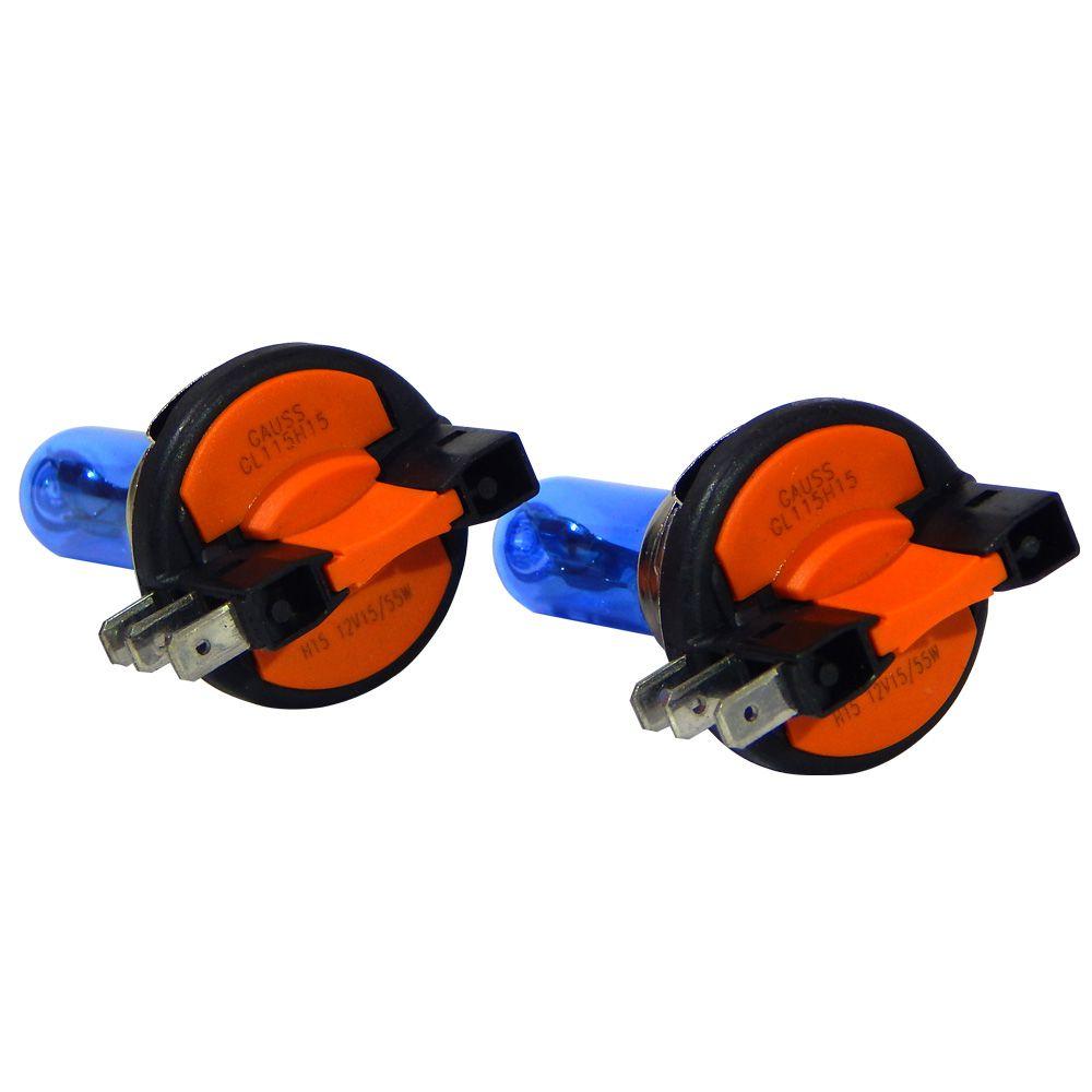 Kit Lâmpadas Automotivas Gauss H15 Super Branca 55/15w - 12v