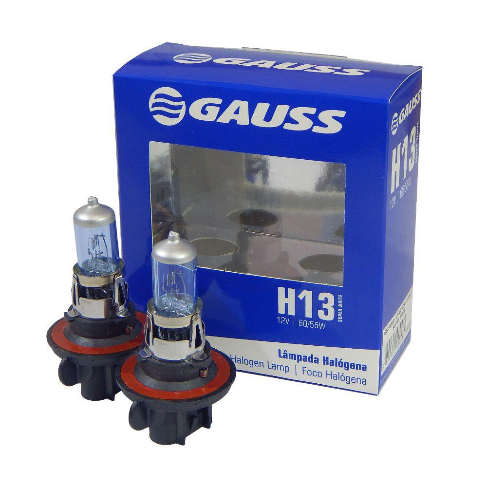 Kit Lâmpadas Automotivas Gauss Super Branca H13 12V 60/55W