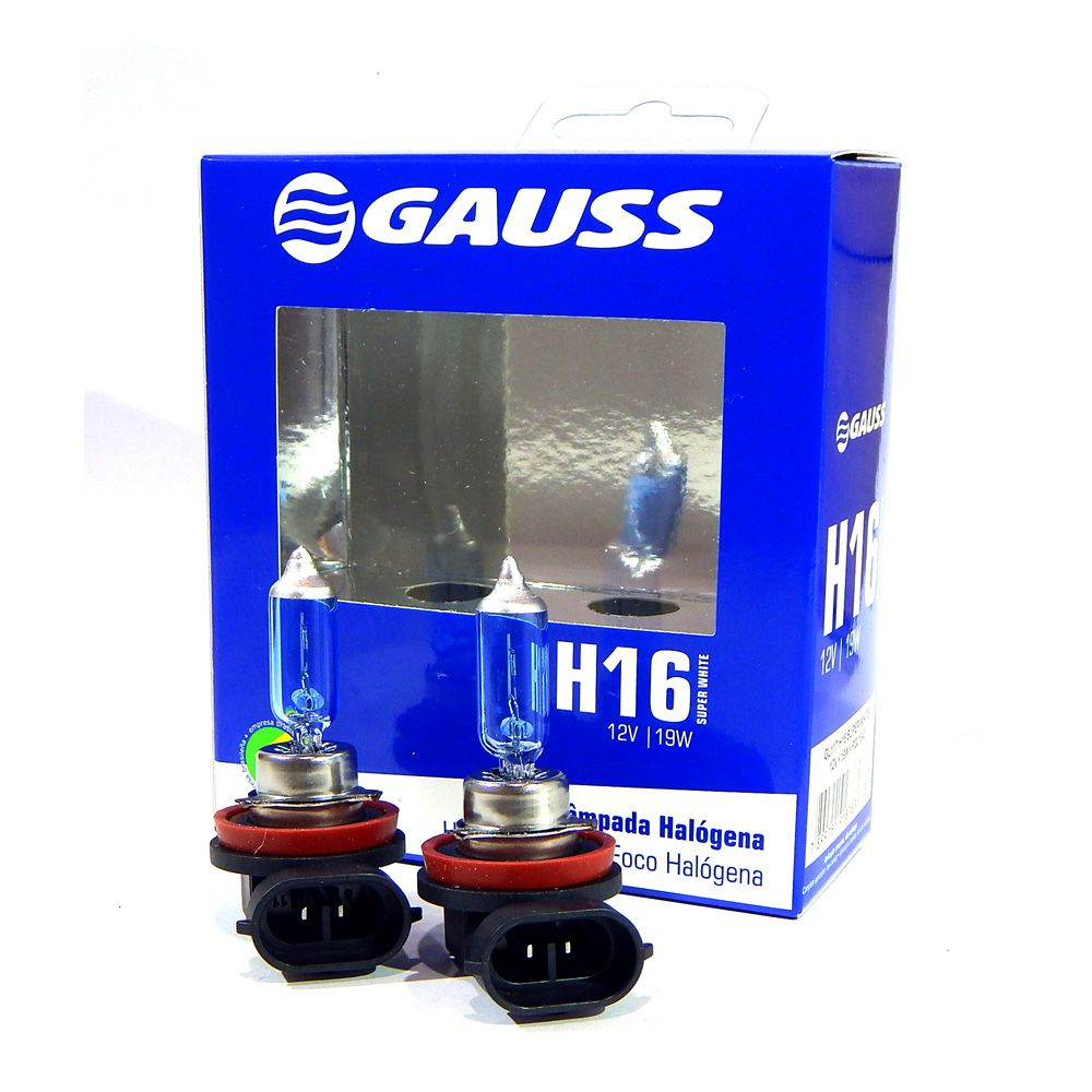 Kit Lâmpadas Automotivas Gauss Super Branca H16 12V 19W