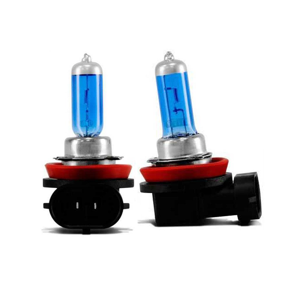 Kit Lâmpadas Super Brancas TechOne H11 8500K - Efeito Xenon - Z-0780 / Z-2172 - H11 8500K