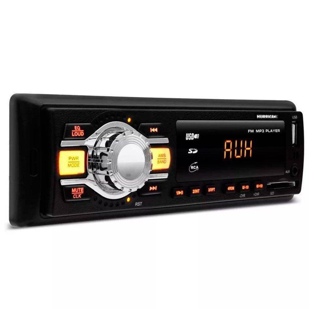 Kit Max Hurricane Rádio Hr-412 + Par Alto Falantes F6 100w