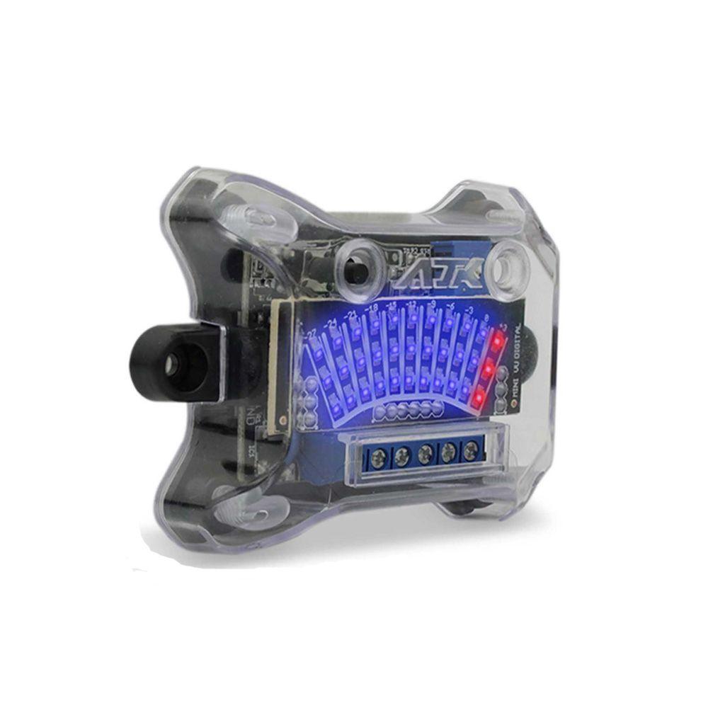 KIT Mini VU AJK Sound: 2 Réguas Azul c/ 33 LEDs + Central