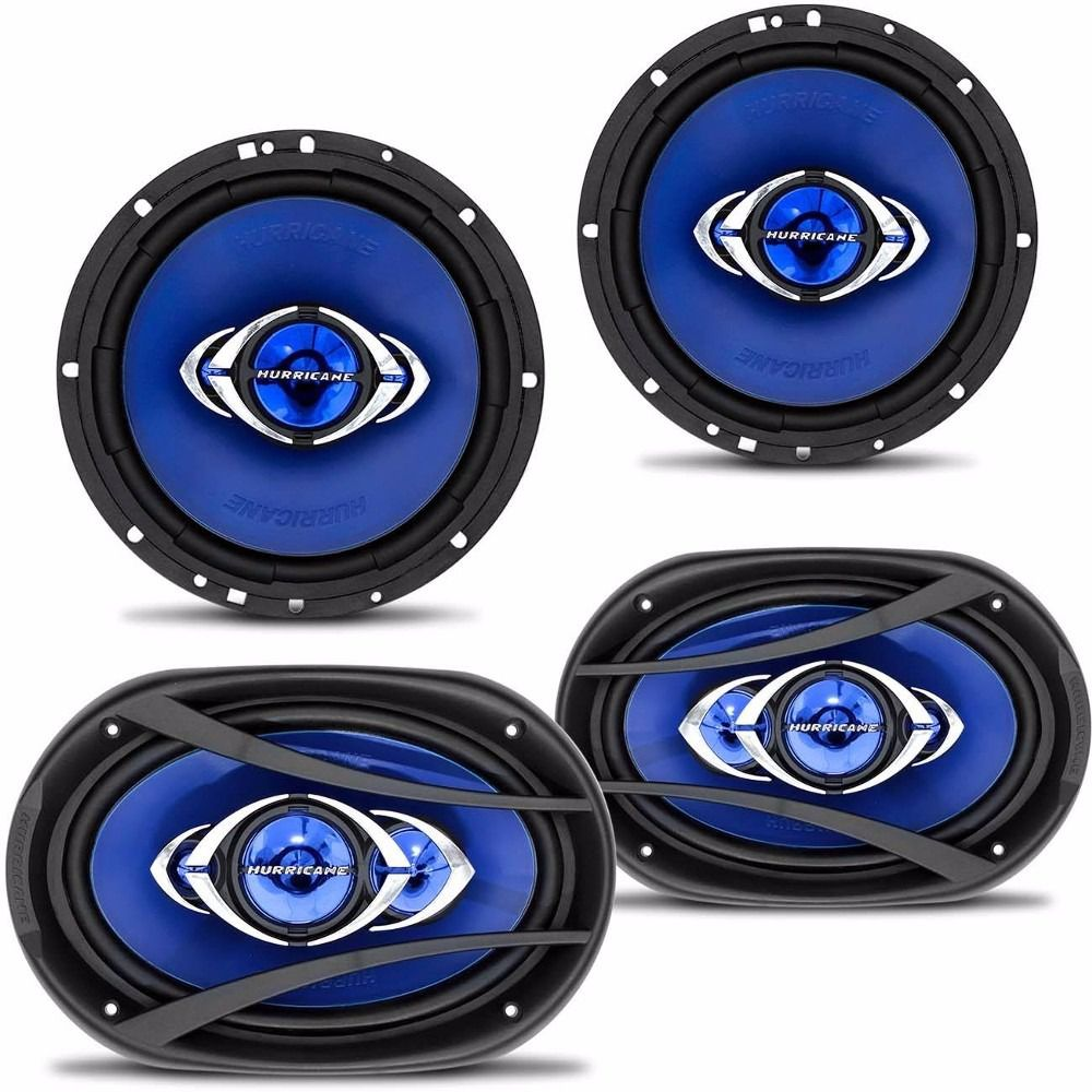 "Kit Prático Hurricane - 2 Quadriaxial 6"" +2 Quadriaxial 6x9"""