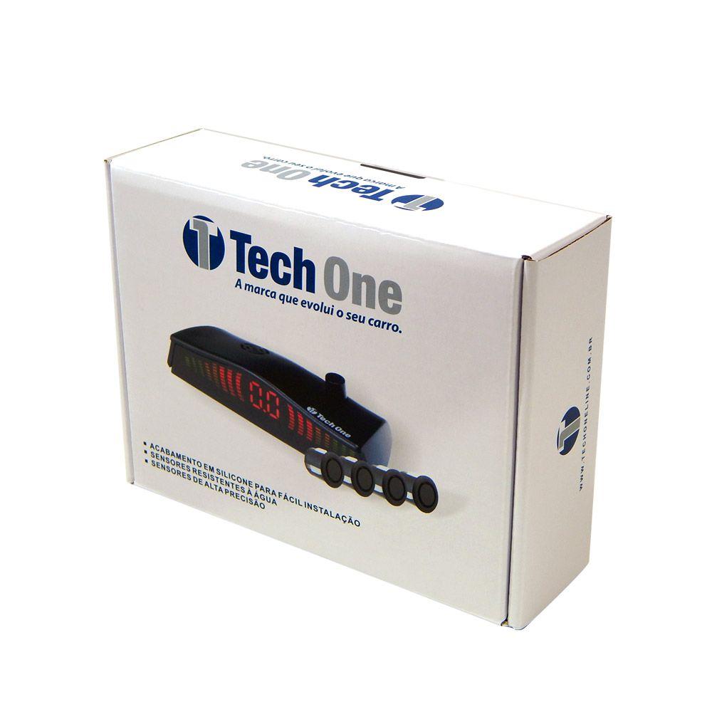 Kit Sensor de Estacionamento Tech One OEM - Preto