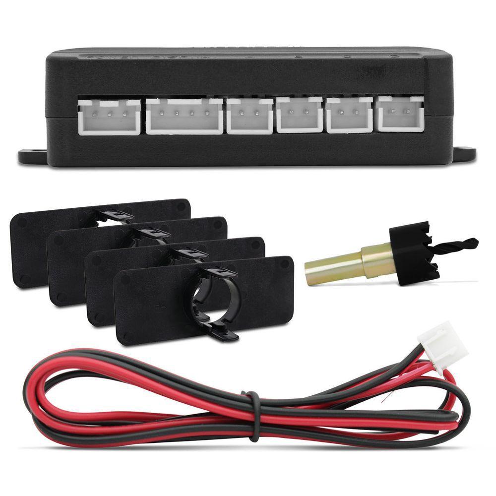 Kit Sensor de Estacionamento Tech One OEM - Vermelho