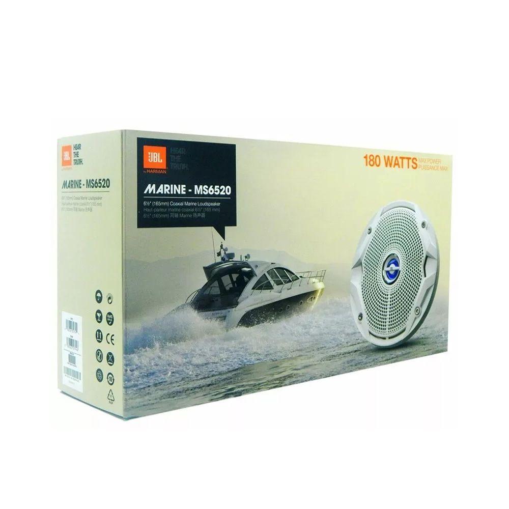 Kit Som Náutico JBL: 1 Amplificador + 4 Alto Falantes Ms6520