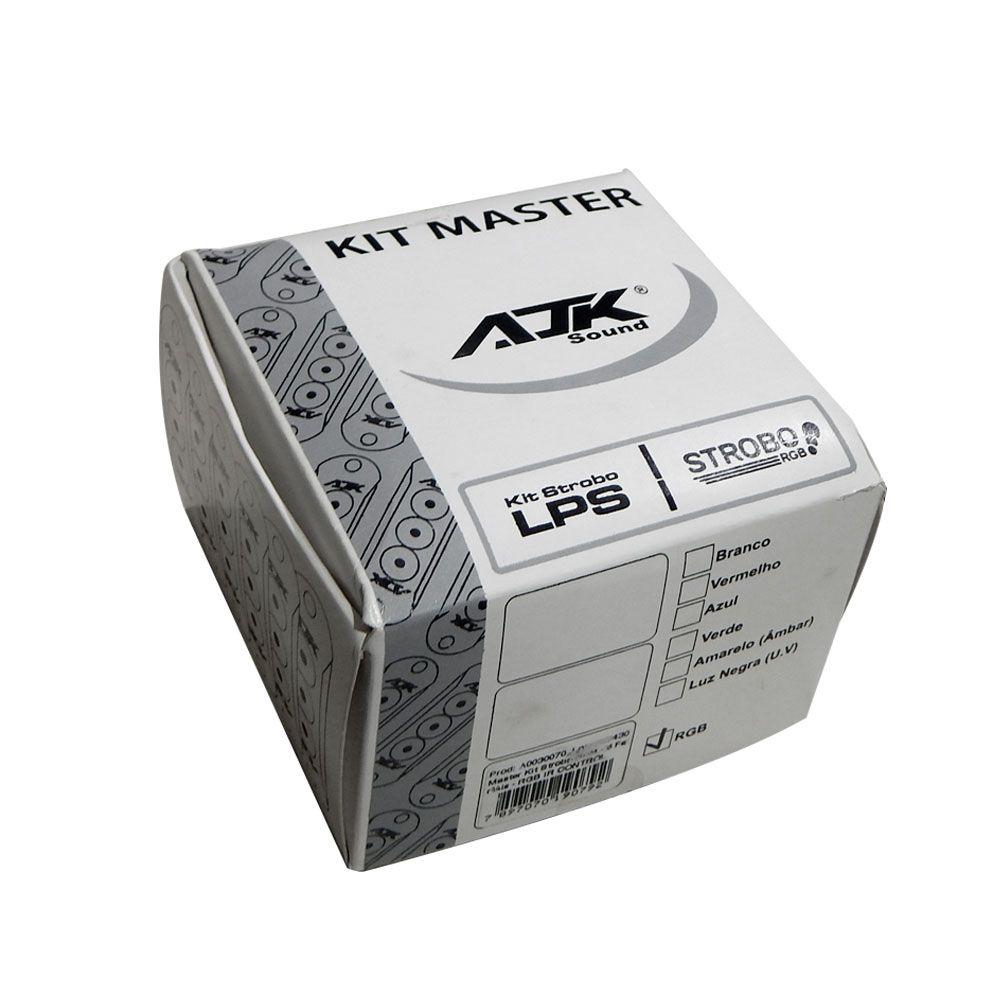 Kit Strobo AJK RGB IR Control com 6 Faróis e Controle Remoto