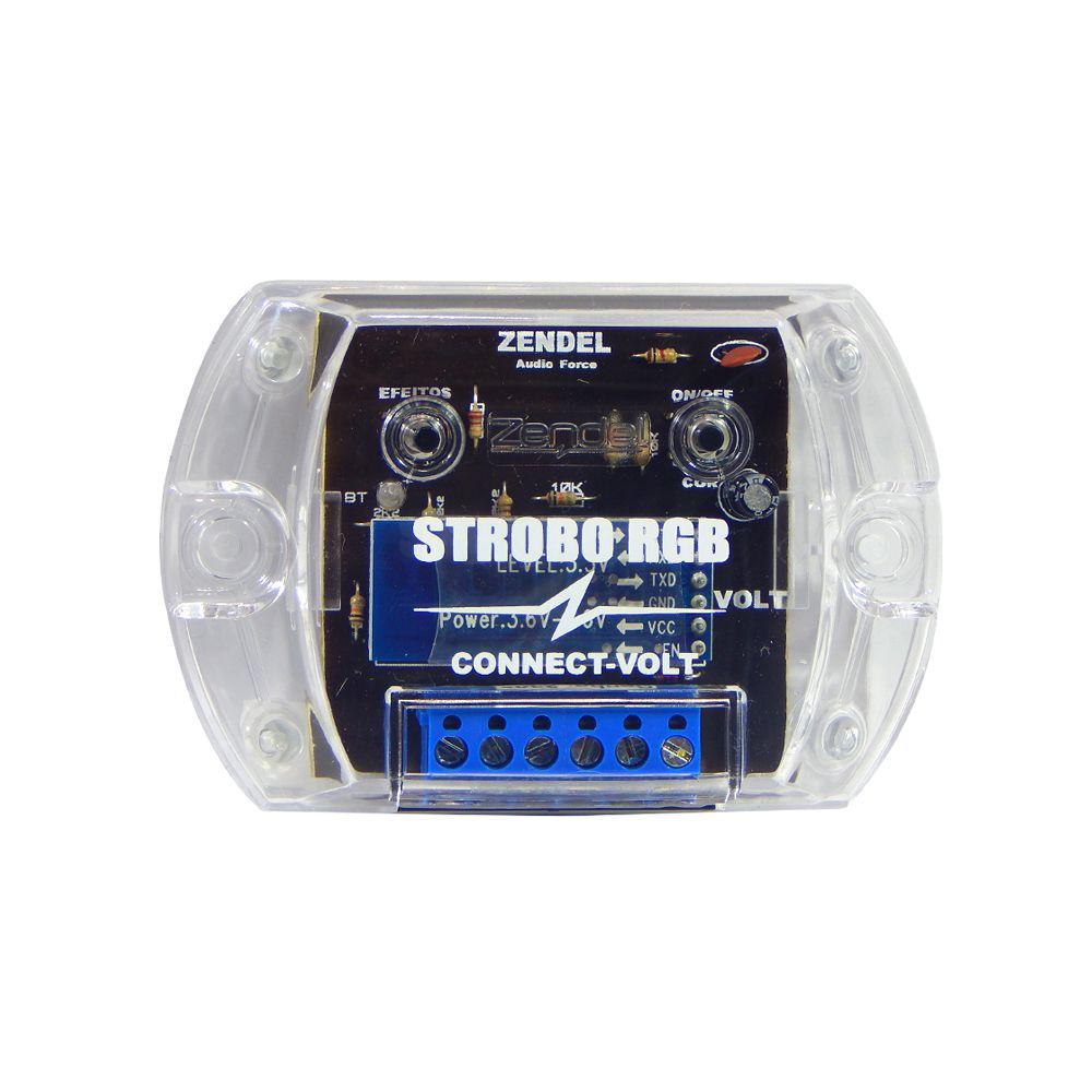 Kit Strobo Zendel RGB Connect-Volt c/ 2 faróis de LED