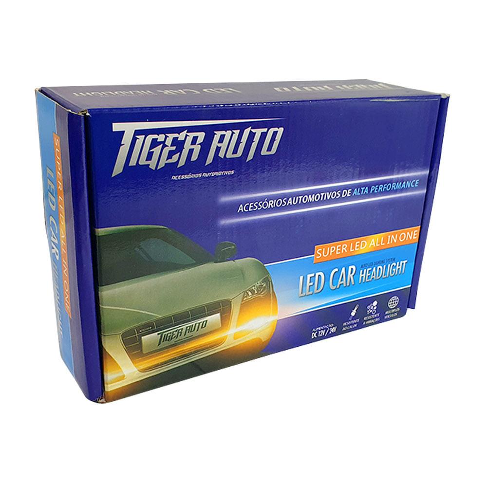 KIT SUPER LED FITA (MALHA) TIGER H4 (12V/24V) - 6000K 3200LM / 25W TG-10.03.003 / 1003003