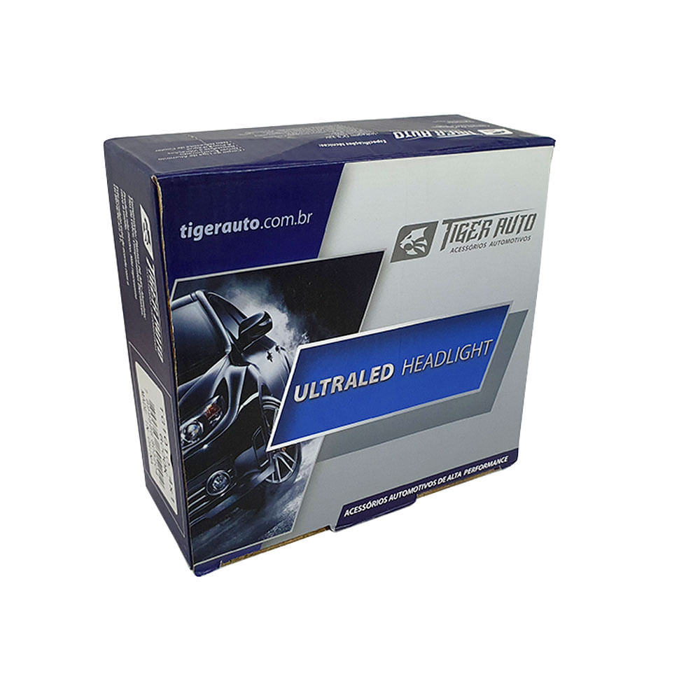KIT ULTRALED TIGER H8-H11-HB3-HB4 (50W) - 6000K - 4.000LM - 12V (REATOR INTEGRADO / LED CHIP COREANO) TG-10.10.4X1