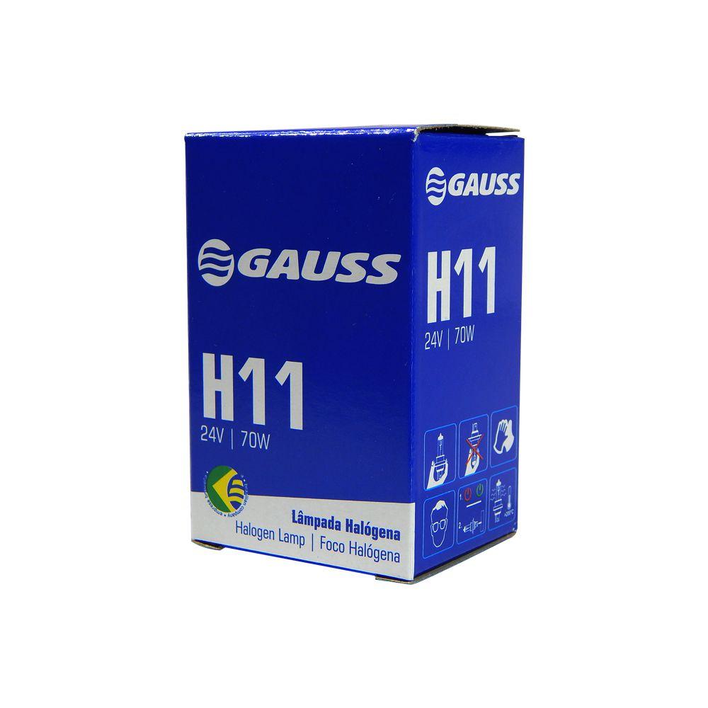 Lâmpada Automotiva Gauss H11 24V 70W Caminhão / Ônibus