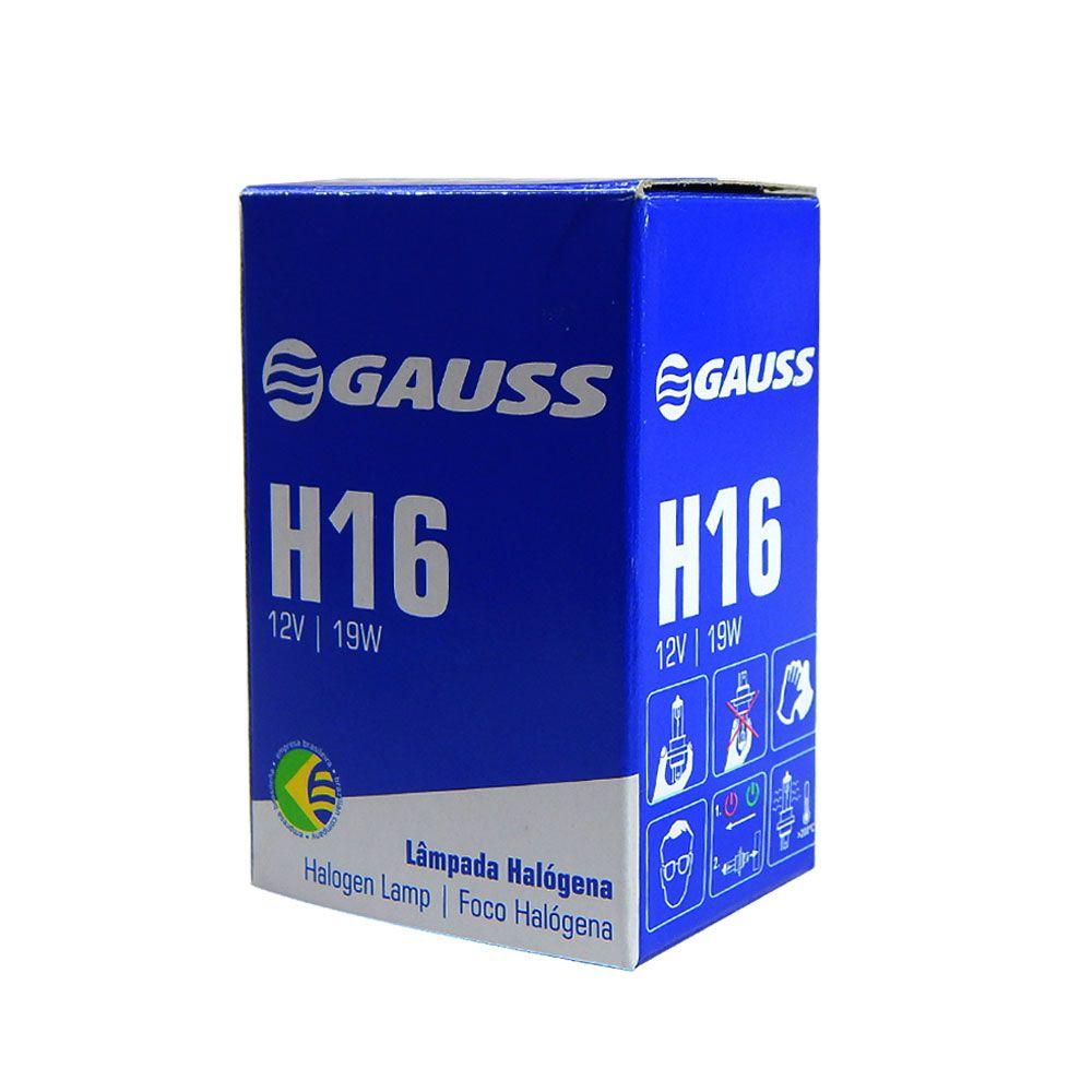 Lâmpada Automotiva Gauss H16 19w Halógena 12v - Inmetro H16
